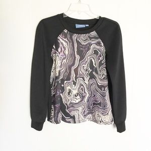 Simply Vera Black Sweater Black Purple Size Small